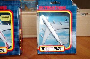 MATCHBOX SKYBUSTERS AVION SB-10 BOEING 747 LUFTHANSA NEUF EN BOITE
