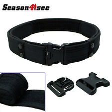 "2"" Inch Outdoor Tactical Combat Train Police Duty Military Army Waist Belt Black"