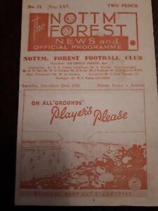 nottingham forest v arsenal 1945/46