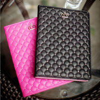 New Metal Nail Bling Crown Leather Flip Stand Case Cover for iPad mini Air 2/3/4