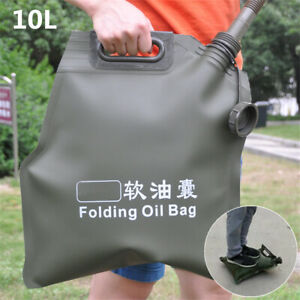 Olive Soft 10L Gas Fuel Bladder Bag Oil Tank Can Motorcycle Car ATV Ubiversal 1x