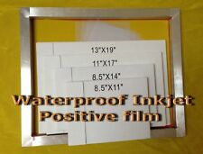 "WaterProof Inkjet Transparency Film For Screen Printing13"" x 19"" 400Sheets- 4mil"