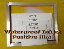Waterproof Inkjet Transparency Film For Screen Printing13 X 19 400sheets 4mil
