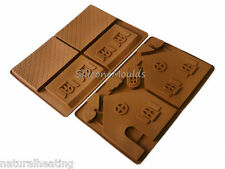 2pc Christmas Fairytale Chocolate Gingerbread House Log Cabin Silicone Mould Set
