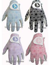 4 Ladies Cabretta Leather Golf Glove Mix Colours Medium