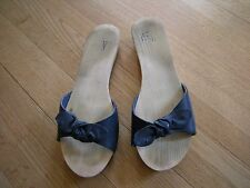 Urban Outfitters Wooden/Blue Leather Sandals Women's Size 8