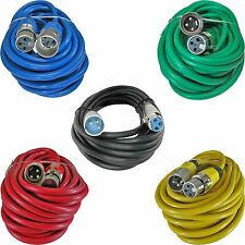5PACK XLR Male to XLR Female mixed Colors MIC Microphone audio Cables 25 FT foot