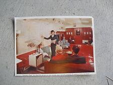 Vintage 1950s Oversize Postcard - Northern Pacific Railways Train Interior