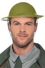 Adult 1940s Green World War 2 Tommy Hat Fancy Dress WW2 Costume Accessory