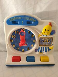 1996 Tomy Bananas In Pajamas Learn To Tell Time Clock toy vintage