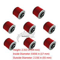8x Oil Filter For Yamaha xv 250 750 1000 Virago XV535 XT 400 TT SR 250 500