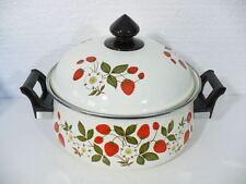 Sheffield Strawberries n' Cream Porcelain on Steel Gourmet 3-1/2qt Casserole