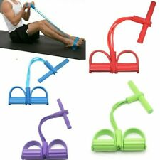 Sit-Up Pull Rope Fitness Gum 4 Tube Resistance Bands Latex Pedal Exerciser Yoga