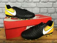 NIKE UK 5 EU 38 LOCK IN LET LOOSE TIEMPO RIO IV FG FOOTBALL BOOTS CHILDRENS