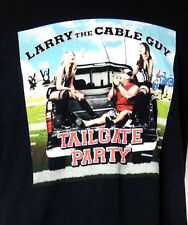 Larry The Cable Guy Tailgate Party 2009/2010 Comedy Tour Black T-Shirt XL
