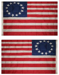 4x6 Embroidered 300D Sewn Betsy Ross Nylon Flag 4'x6' Banner Grommets