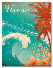 Glitter Embellished Hawaiian Art Magnet - Hawaiian Wave by Paccottiglia