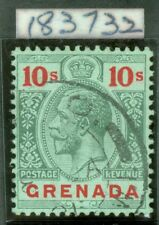 SG 101 Grenada 1913-22 10/- green & red/green. Very fine used CAT £130. RPS cert