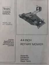 Sears Suburban Lawn Garden Tractor 44 Mower Deck Owner & Parts Manual GTV GT6000
