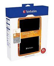"Verbatim 2.5"" Portable Hard Drive Black USB 3.0 / USB 2.0 1 TB #53023"