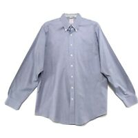 Brooks Brothers Non Iron Shirt Mens Size 17 37 Blue Long Sleeve Button Front