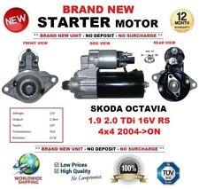 FOR SKODA OCTAVIA 1.9 2.0 TDi 16V RS 4x4 2004->ON STARTER MOTOR 2.0kW 10-Teeth