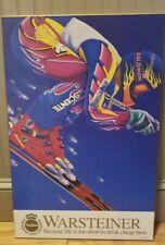 Vintage Warsteiner Beer skiing Ski Racing Sl Gs Sign Descente Solomon Canada
