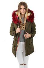 Parka Premium XXL Kunstfell mit Kunstfellinnenfutter EF1608 Winter Fashion