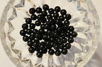 100 Stück Wachsperlen 6 mm schwarz Bastelperlen Perlenketten