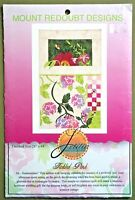 Tickled Pink quilt pattern Mount Redoubt wall hanging floral Summer bees flowers