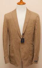 NWT Polo Ralph Lauren Cotton Beige Casual Slim Blazer Sportcoat Jacket 46L