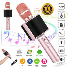 Wireless Bluetooth Karaoke Microphone Speaker Handheld Mic Player Best Kids Gift