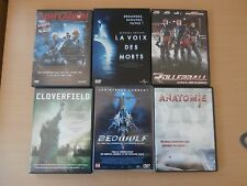 LOT DE 6 DVD-FANTASTIQUE/HORREUR