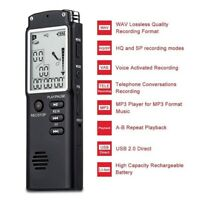 8GB 16GB 32GB USB Digital Sound Voice Recorder Dictaphone MP3 Player Rechargeabl