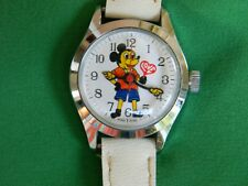 "Vintage Mickey Mouse ""Love"" Watch Likson Co. Wind Up Made in Hong Kong WORKS!"