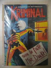 KRIMINAL FUMETTO NOIR N. 89 EDITORIALE CORNO 1967 - FUM0