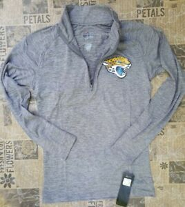 NFL Jacksonville Jaguars Women's 1/4-Zip Pullover Long Sleeve Size XS Athletic