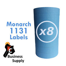 Blue labels for Monarch 1131 price gun,8 sleeves=64 rolls Quality Made in Usa
