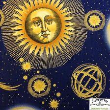 RPB294A Celestial Astrology Star Sign Zodiac Sun Moon Space Cotton Quilt Fabric