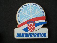 Croatia, Ski Demonstrator badge, numbered - rare; ISIA, skiing