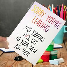 Leaving Card New Job Promotion Colleague Good Luck Co Worker Congrats Funny PC73