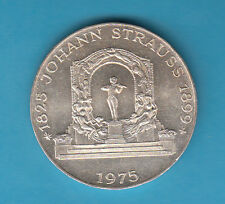 AUSTRIA 100 SCH.1975 STRAUSS ARGENTO QUASI FDC / FDC SOTTO COSTO PREZZO REGALO