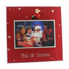 Christmas Red & Silver 3D Santa Photo Frame Me & Santa