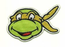 Teenage Mutant Ninja Turtles MICHELANGELO Embroidered Iron On / Sew On Patch