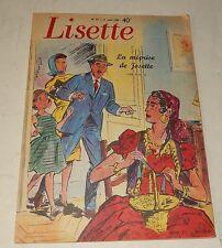 LISETTE N°33 du 17 août 1958 : La méprise de Josette + Un pull blousant + Glaces