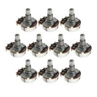 10PCS A250K Guitar Pots Full Size Pots Long Split Shaft Guitar Potentiometers