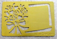 NICOLE Flower Bouquet Tag Brass Stencil NEW Template Airbush Scrapbook Emboss 80
