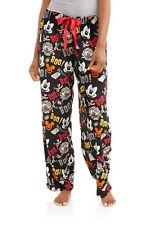 """NEW"" Mickey Mouse HALLOWEEN ~ PLUSH Lounge SLEEP Pajama PANTS ~ Women's S 4 / 6"
