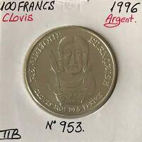 100 FRANCS COMMEMORATIVE (1996) Clovis - Monnaie en Argent // TTB