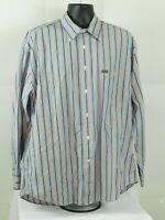 Mens Faconnable Classic Striped Long Sleeve Button Up Dress Shirt Size XL